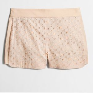 NEW J. CREW EYELET BASKETWEAVE SHORTS, 4.
